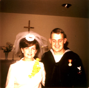 (Netha's sister) Ellen Houdashelt and Bill Wyatt's wedding
